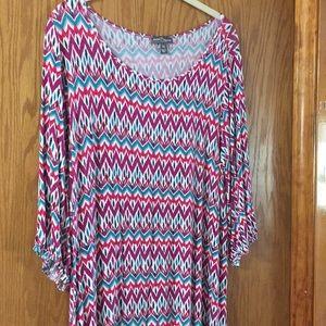Swing style dress - chevron pattern